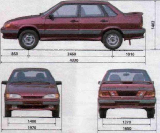 размеры автомобиля ВАЗ-