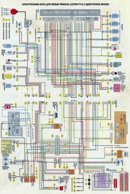 Электросхема двигателя SR20DE